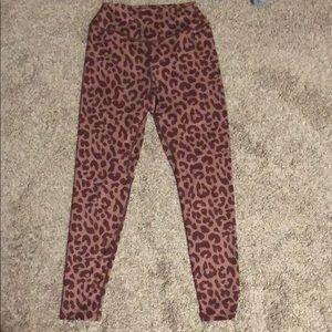 Balance athletica heathered cheetah leggings